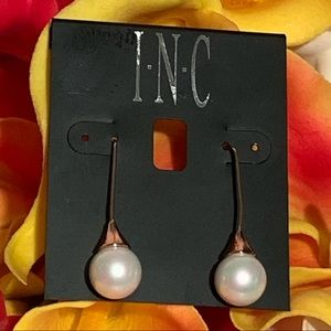 INC International Concepts Pearl Drop Dangle Ear